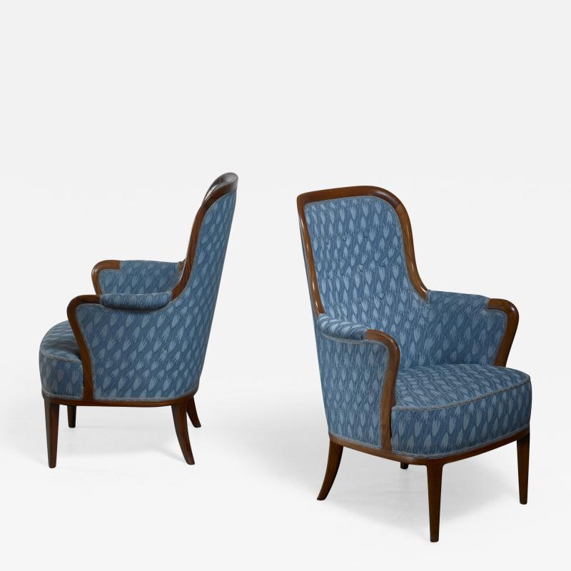 Axel Larsson Pair of Swedish Modern armchairs