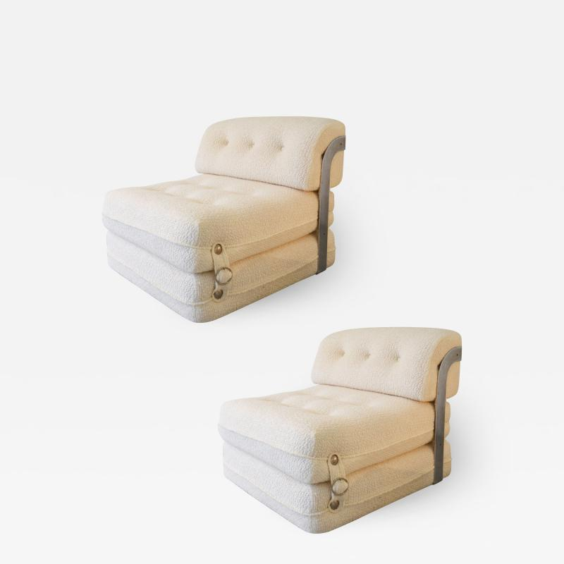Azucena Azucena attr Pair of Armchair Chaise Longue from 70s