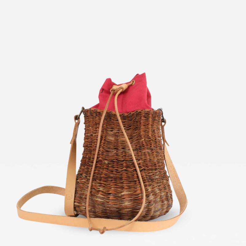 B n dicte Magnin Robert Bespoke Leather and Willow Bark Crossbody Bag Le D bonnaire
