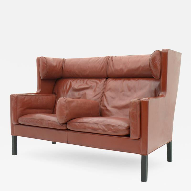 B rge Mogensen One of Two B rge Mogensen Coupe Leather Sofa 2192 Frederica Denmark 1971