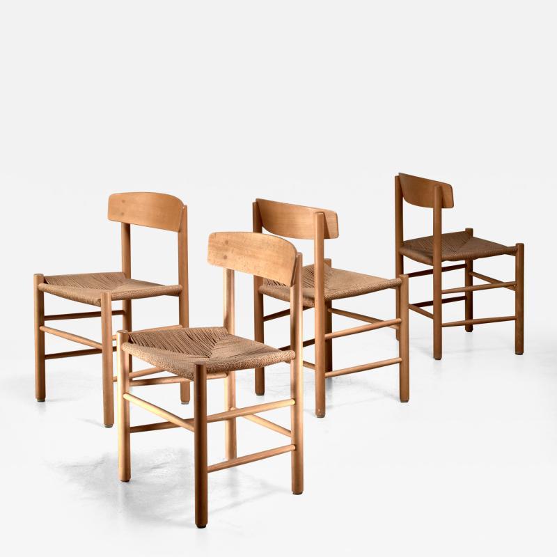 B rge Mogensen Set of 4 Borge Mogensen J39 Dining Chairs Denmark