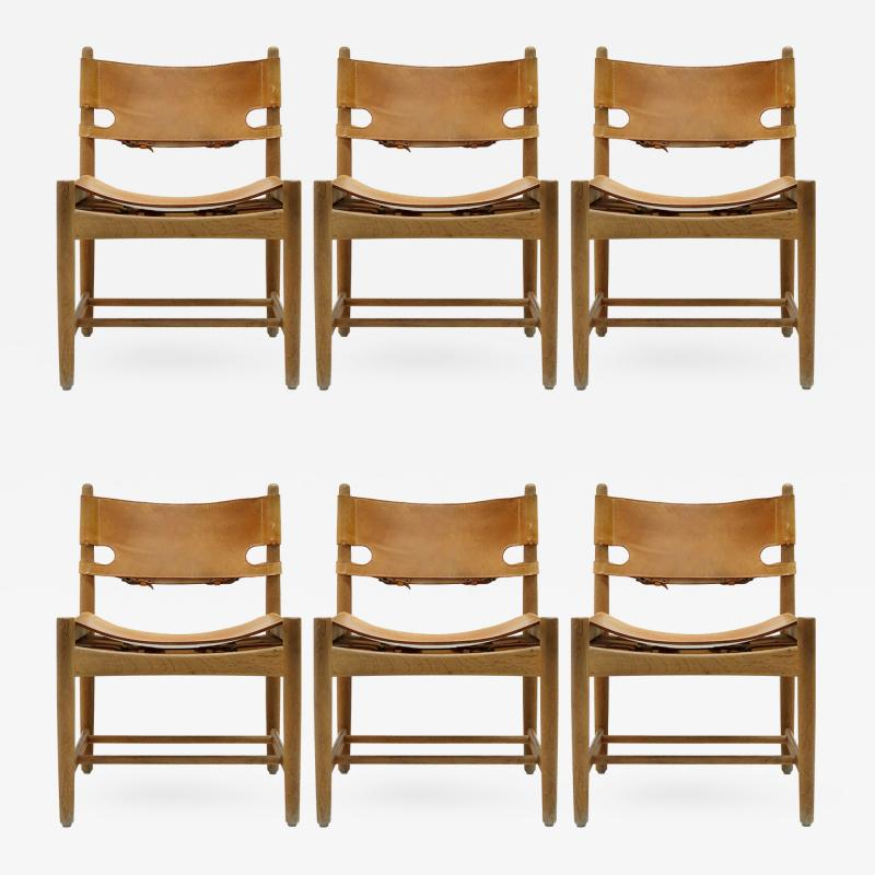 B rge Mogensen Set of Six Hunting Chairs Model 3251 by B rge Mogensen