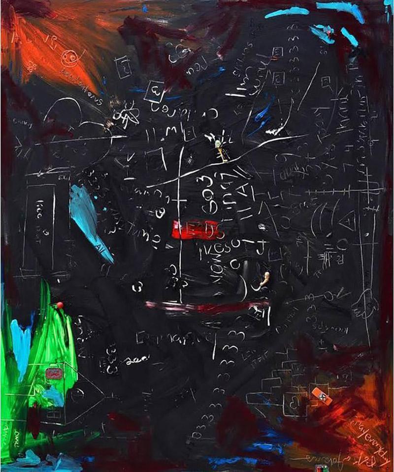 BK Adams I Am Art Communicating a Mystery 31 Mixed Media