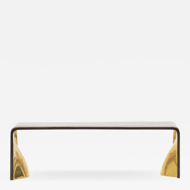 BRONZE AND GOLD BENCH