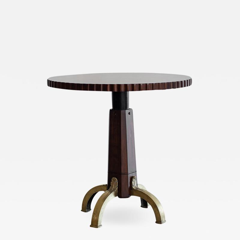 BURLED INLAID BAR TABLES