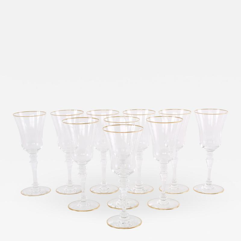Baccarat Crystal Barware Tableware Service Ten People