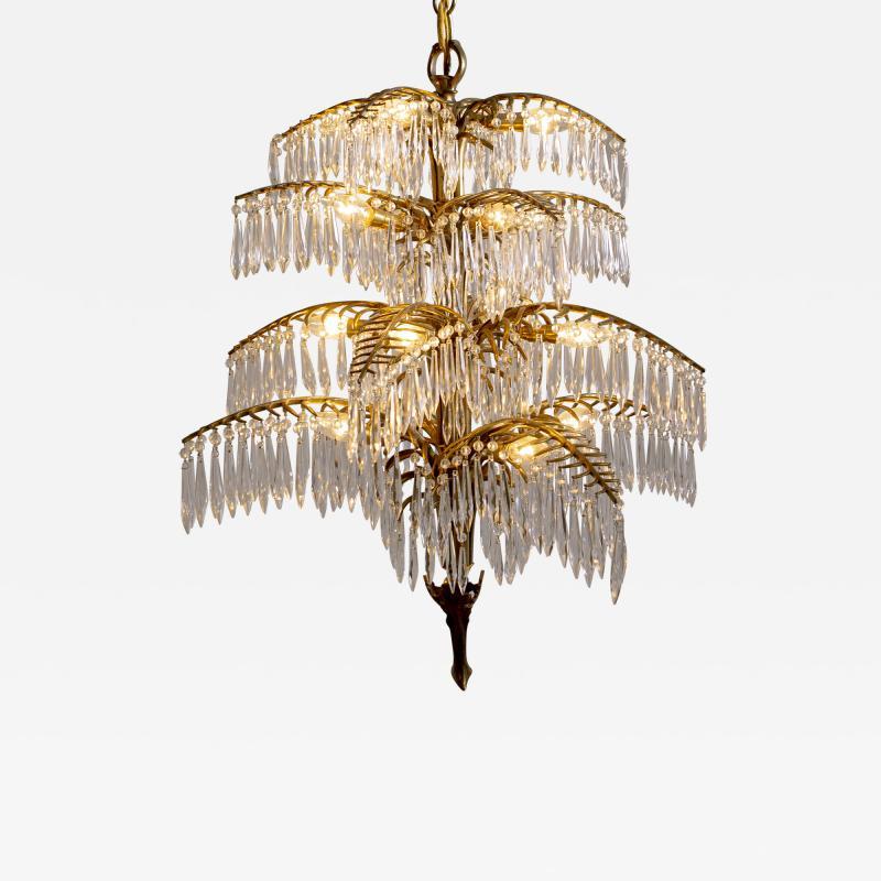 Bakalowits Gilt Bronze Palm Tree Chandelier