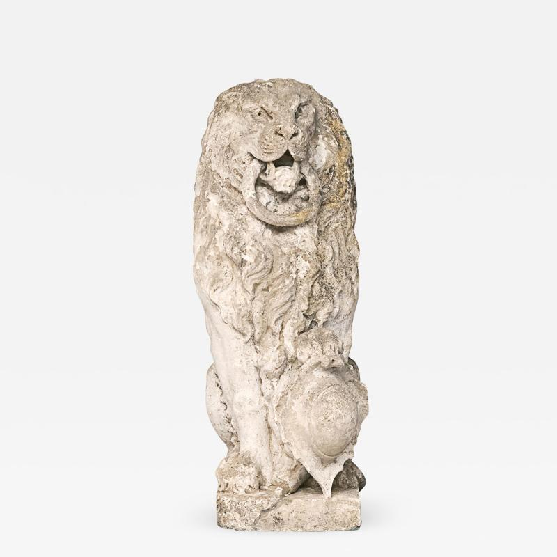 Baroque Limestone Lion from Solg rden circa 1700s