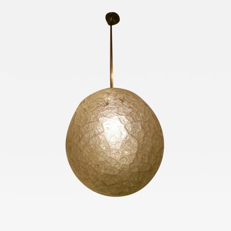 Barovier Art Deco Art Glass Ball Pendant