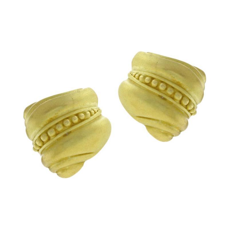 Barry Kieselstein Cord Barry Kieseltein Cord Caviar Gold Earrings