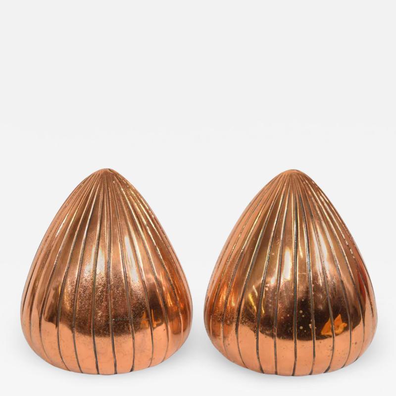Ben Seibel Ben Seibel Clam Bookends in a Copper Finish