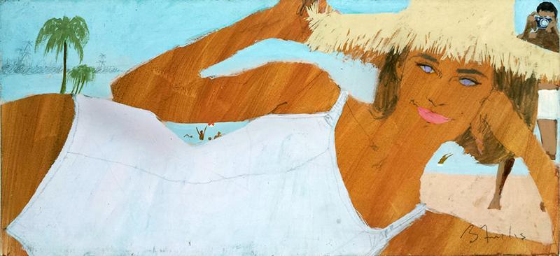 Bernard Fuchs Girl at the Beach