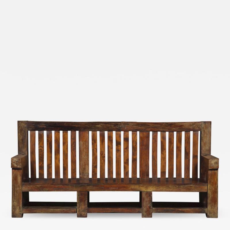 Bernard John Seymour Coleridge Arts And Crafts Bench Attributed To Bernard Second Baron Coleridge 1851 1927