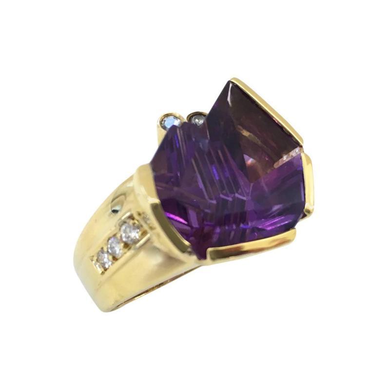 Bernd Munsteiner for H Stern Amethyst and Diamond Ring