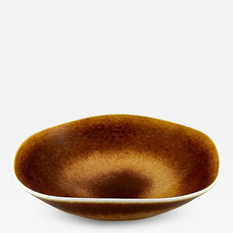Berndt Friberg Large ceramic bowl Modern Swedish design Unique handmade