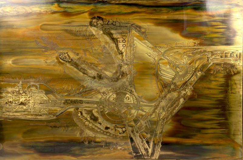 Bernhard Rohne Bernard Rohne Etched Brass Artwork