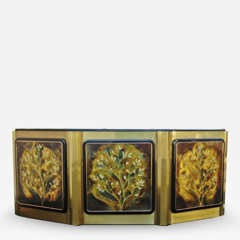 Bernhard Rohne Bernhard Rohne for Mastercraft Tree of Life Credenza Sideboard Cabinet