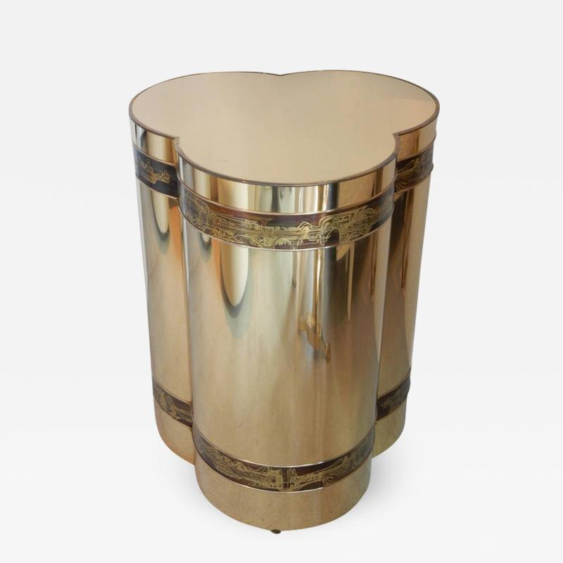 Bernhard Rohne Brass Table by Bernhard Rohne for Mastercraft
