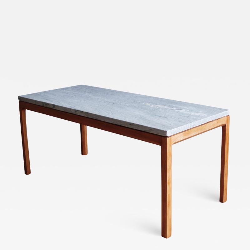 Bernt Petersen Bernt Petersen Mahogany and Marble Coffee Table