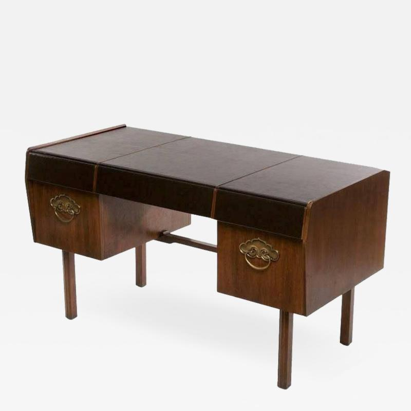 Bert England Bert England Persian Walnut and Leather Desk for John Widdicomb