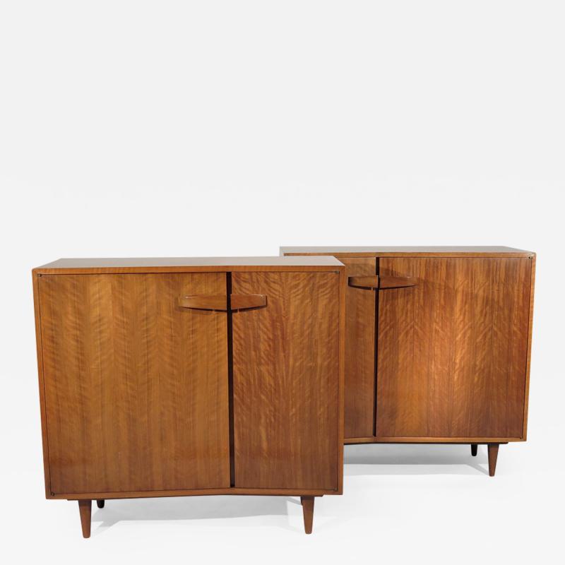 Bertha Schaefer Rare pair of asymmetrical cabinets