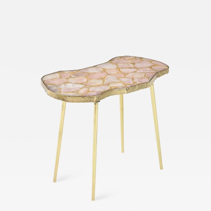 Bespoke Rose Quartz Side Table