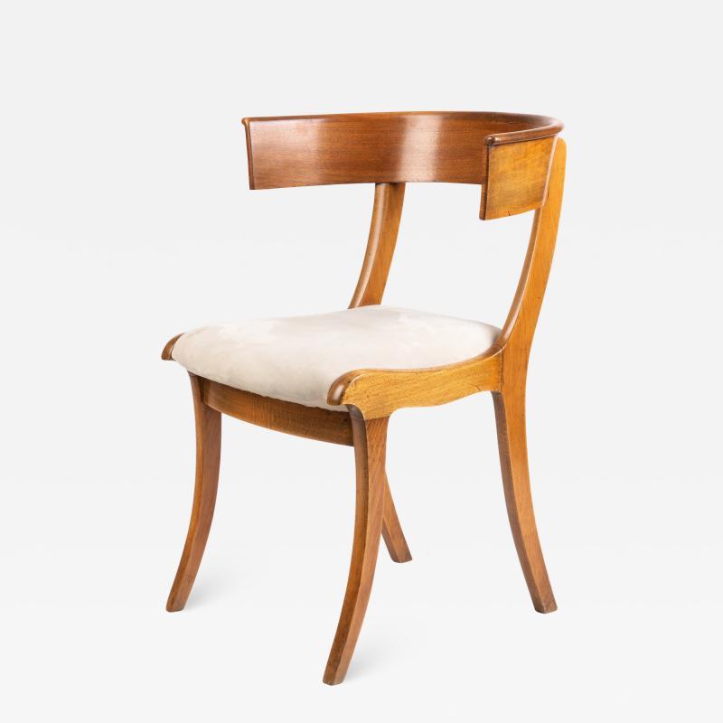 Biedermeier Klismos form chair with sabre front legs