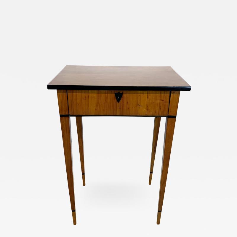Biedermeier Side Table with Drawer Cherry Veneer South Germany circa 1820