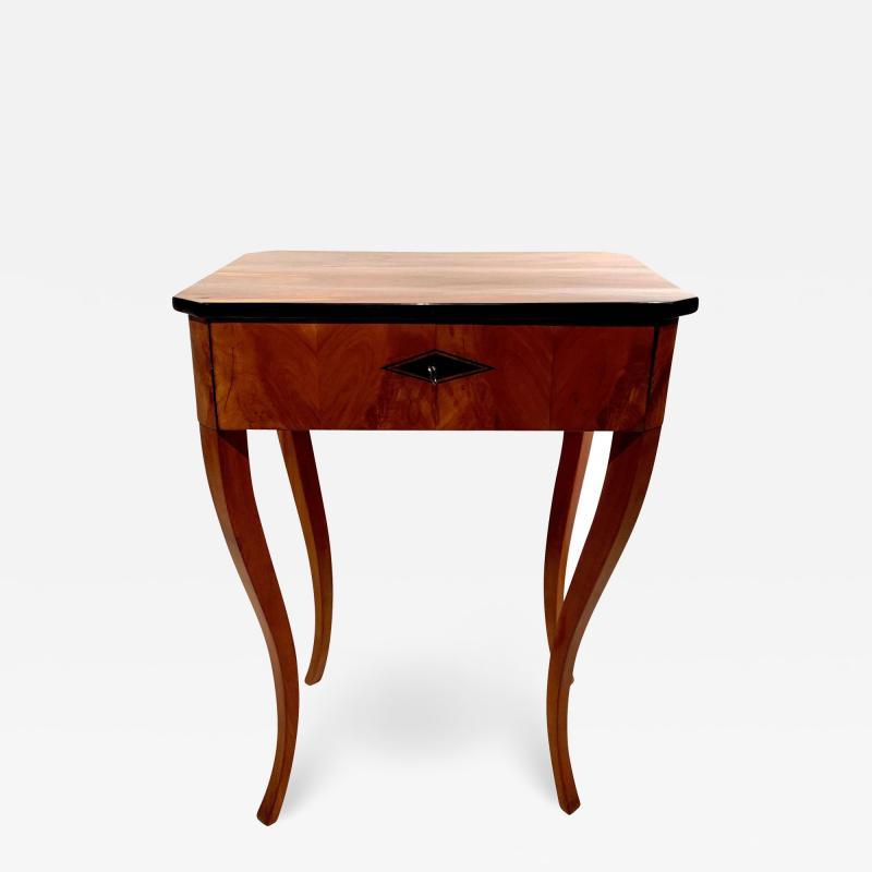 Biedermeier Side Table with Drawer Cherry Veneer South Germany circa 1830