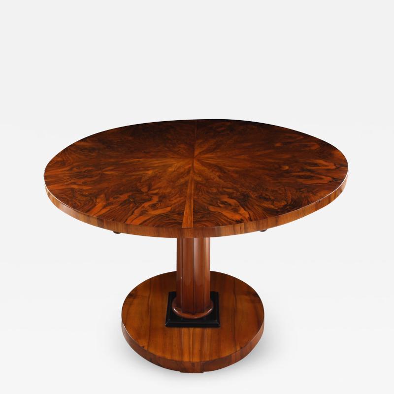 Biedermeier Table with Fold Up Plate Walnut Veneer Austria Vienna circa 1825