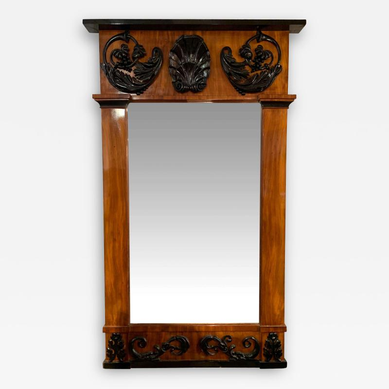 Big Empire Mirror Mahogany Carved Decor South Germany circa 1810