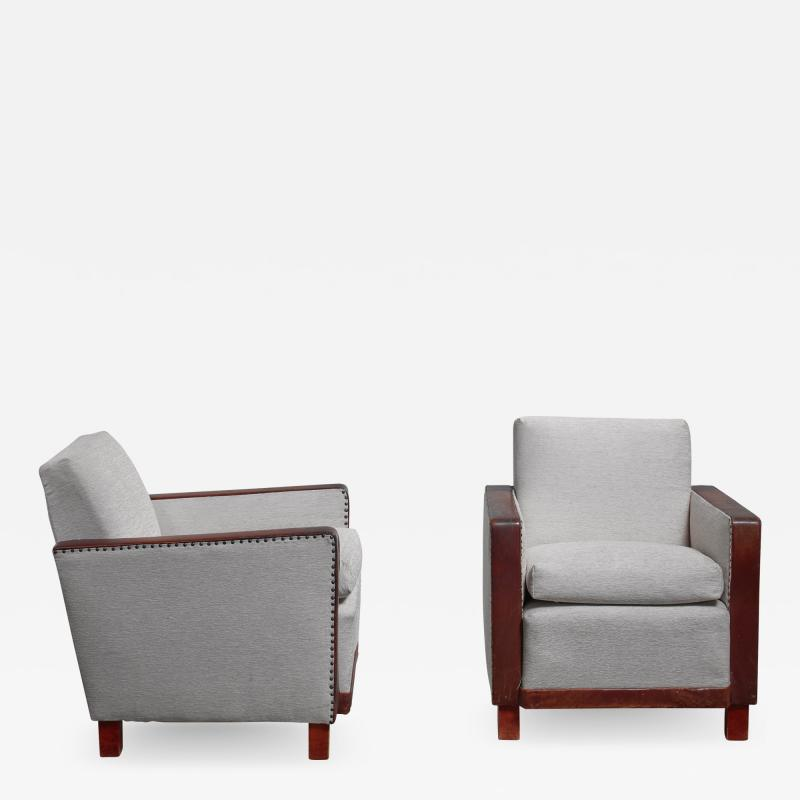 Bjorn Tragardh Bjorn Tragardh pair of easy chairs Sweden 1930s
