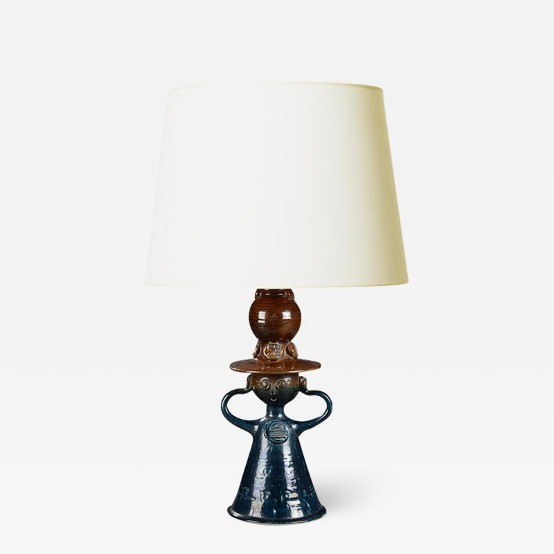 Bjorn Wiinblad Bj rn Wiinblad Table Lamp with Female Figure Base by Bjorn Wiinblad