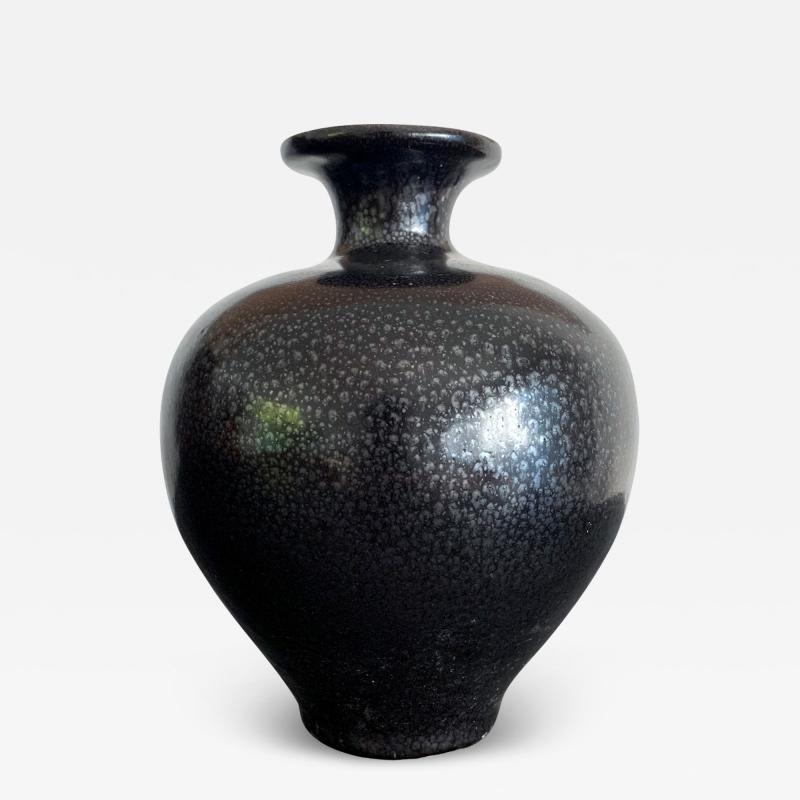 Black Ceramic Vase with Oil spot Glaze Jian Ware