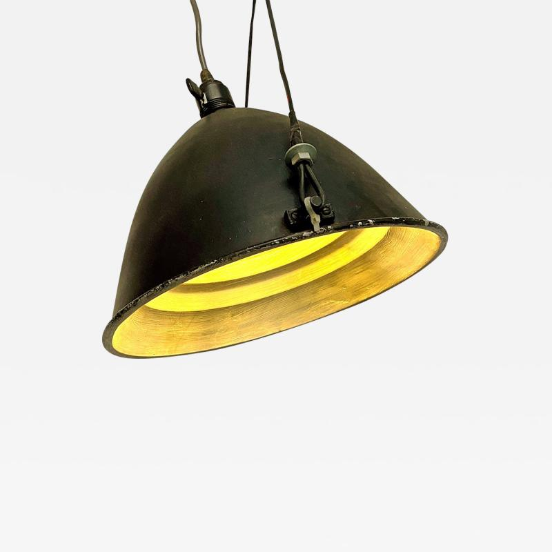 Black Industrial chandelier 1970s
