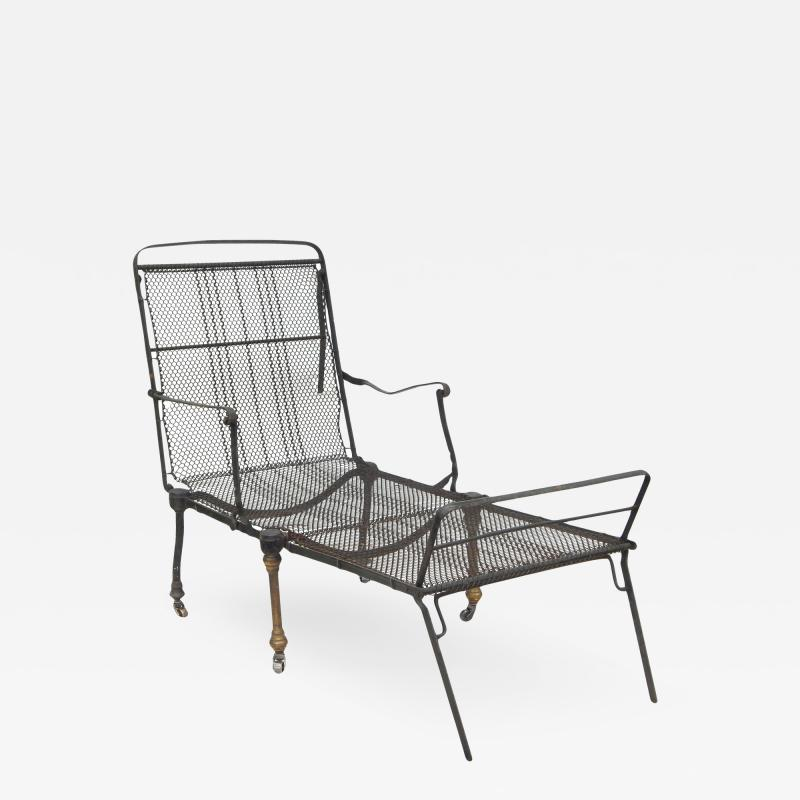 Black Iron Folding Chaise
