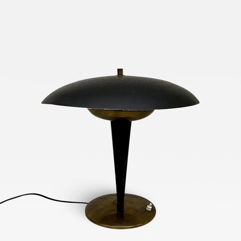 Black metal table lamp 1930s