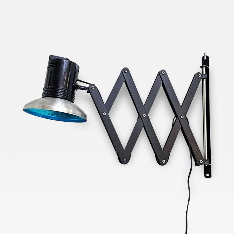 Black pantograph wall lamp 1970s