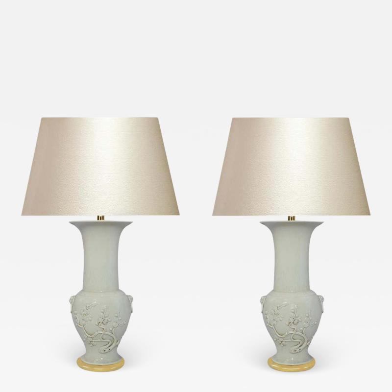 Blanc De Chine Porcelain Lamps