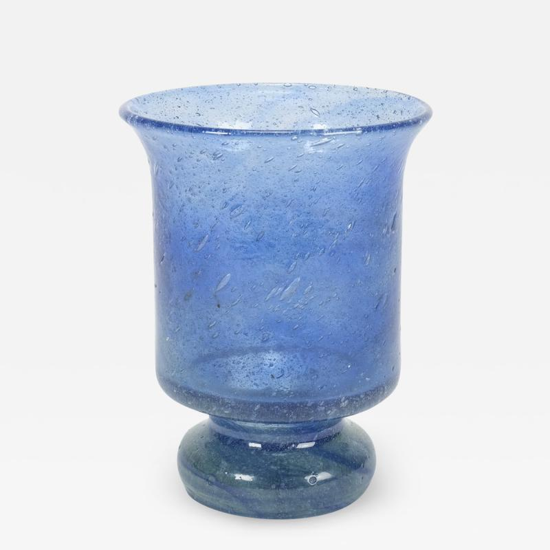 Blue glass for candle signature 1976