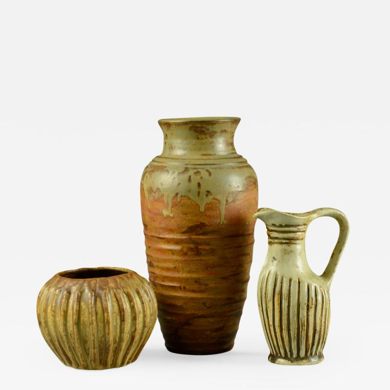 Bode Willumsen Group of vases by Bode Willumsen own studio Denmark 1930s