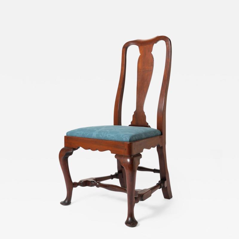 Boston Queen Ann mahogany slip seat side chair