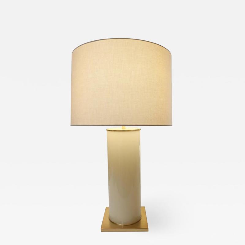 Brass Base Opaline Table Lamp by Kate Spade