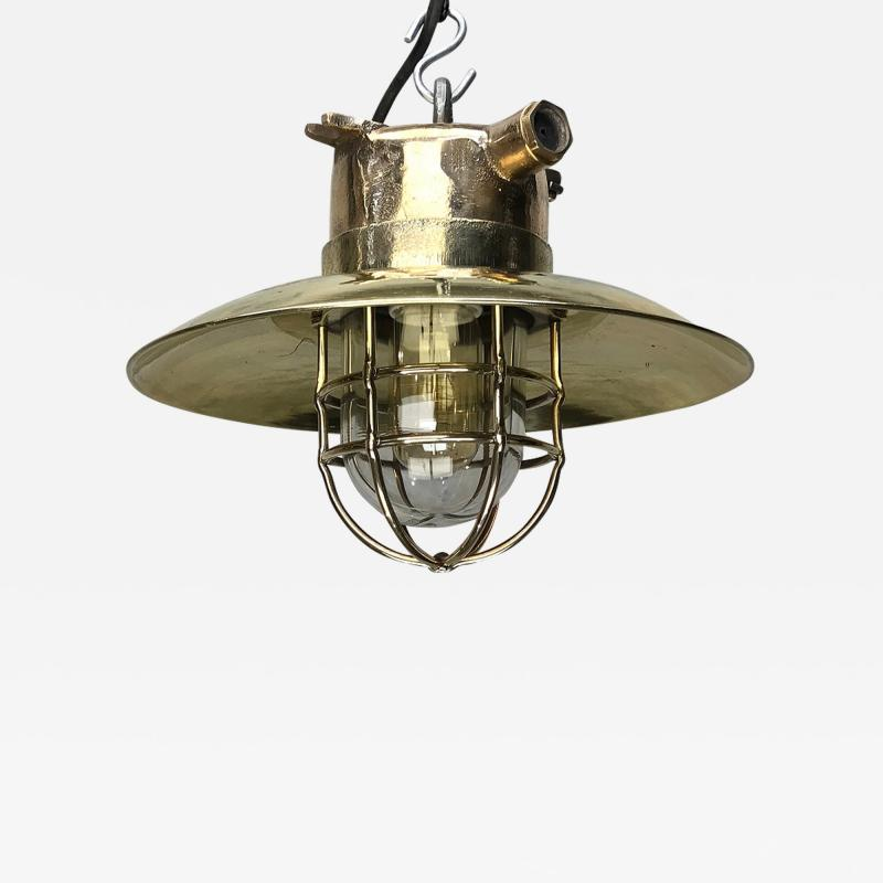 Brass Explosion Proof Cage Ceiling Pendant