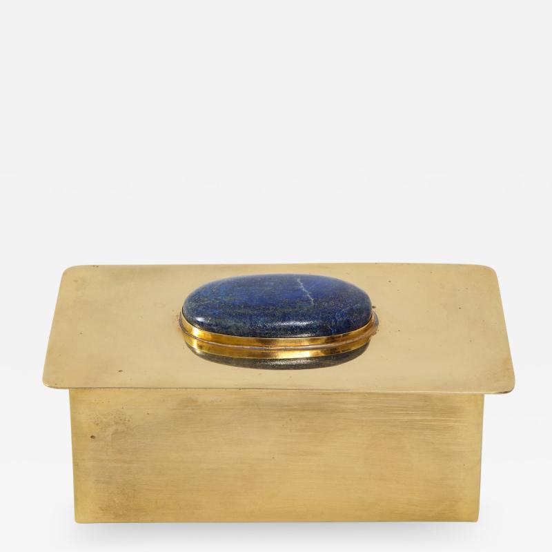 Brass Keepsake Box with Lapis