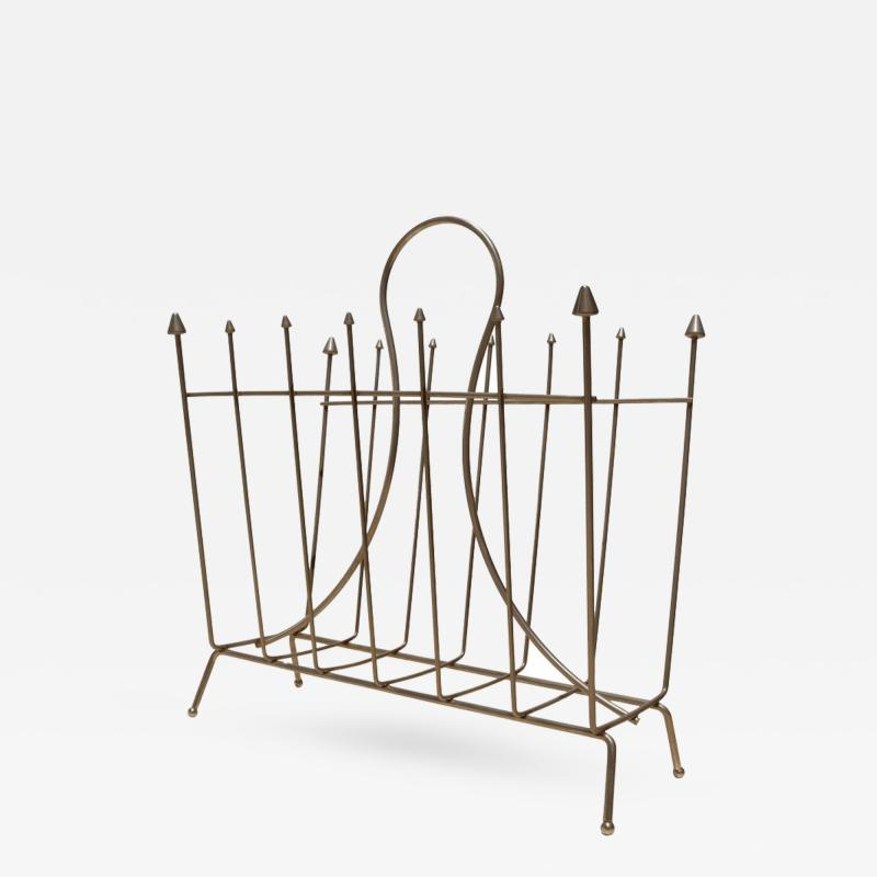 Brass Mid Century French Magazine Rack
