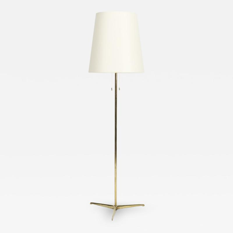 Brass floor lamp 50s Switzerland new lampshade