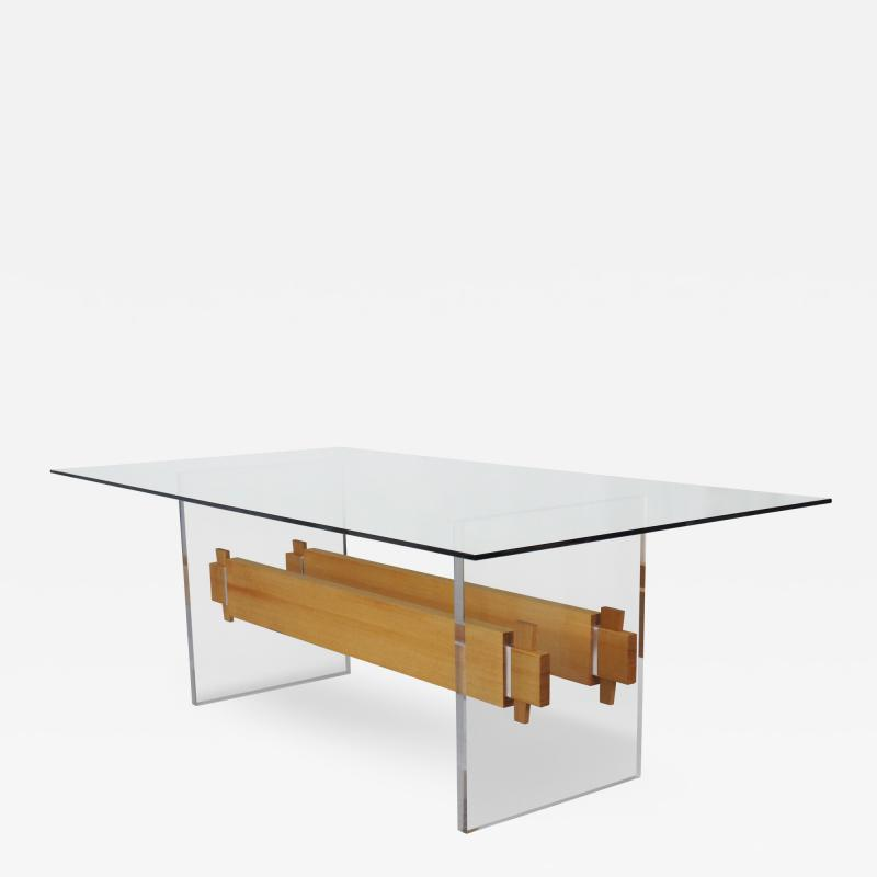 Brent Delf Floating Trestle Dining Table