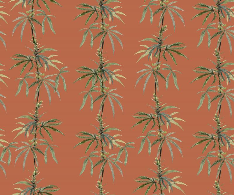 Brett Design Botanical Ganja Red Earth