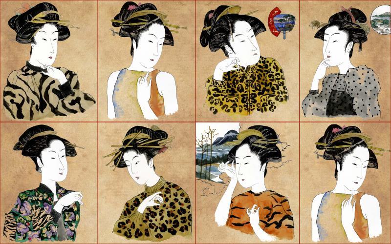 Brett Design Modern Geishas Original